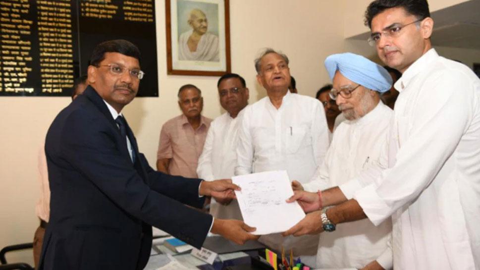 राज्यसभा चुनाव: पूर्व PM मनमोहन सिंह ने दाखिल किया नामांकन