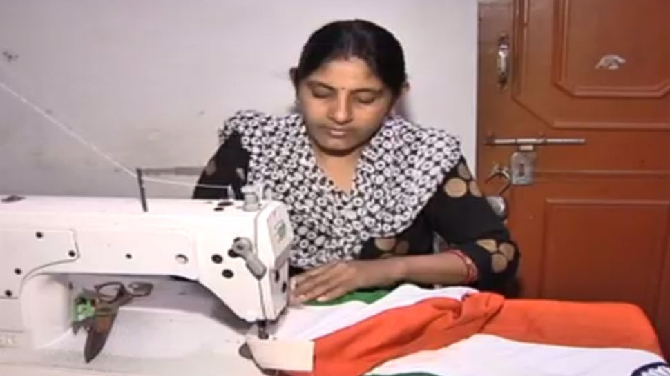 Flag stitched in Gwalior and being hosted at many cities
