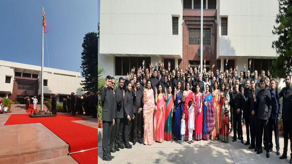 VIDEO: इस्लामाबाद में फहराया गया तिरंगा, भारतीय उच्चायोग में लगे 'जय हिंद' के नारे