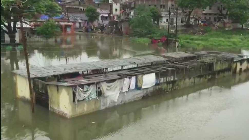 Heavy rains have flooded the city's lower settlements