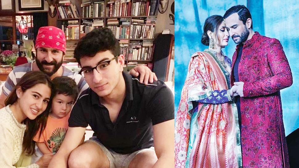 PICS: बेटी सारा और पत्नी करीना ने कुछ इस अंदाज में सैफ अली खान को किया बर्थडे विश