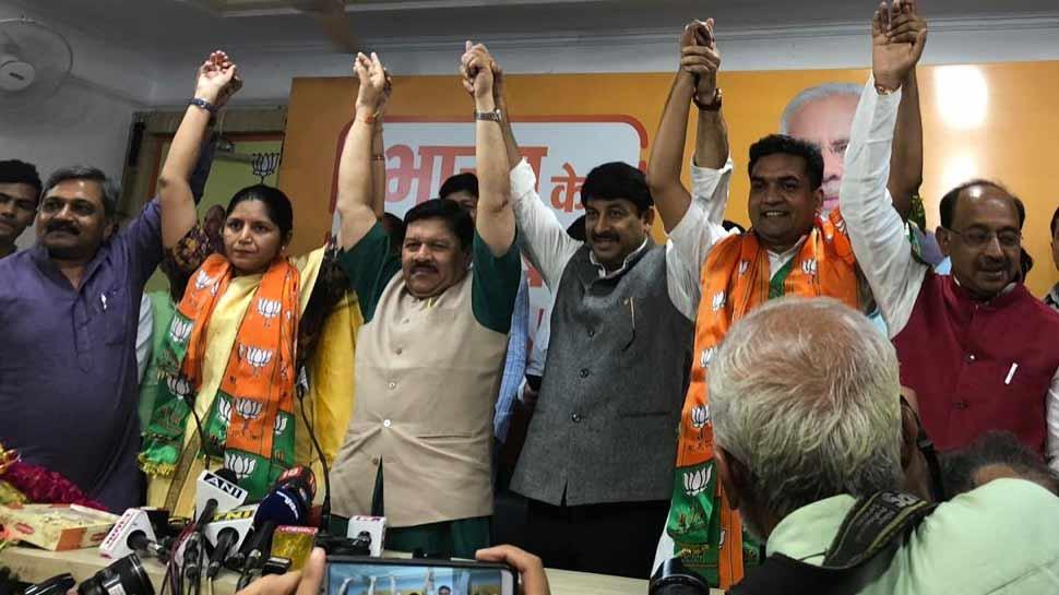 AAP को बड़ा झटका, कपिल मिश्रा के साथ महिला विंग की अध्यक्ष ऋचा पांडे मिश्रा बीजेपी में शामिल