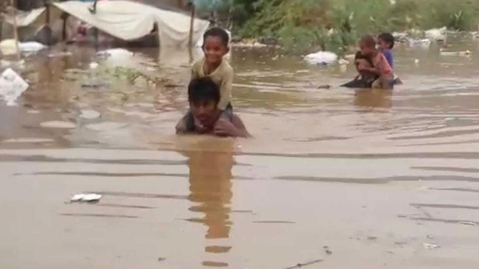 कोटा: बाढ़ के कई सड़क हुए क्षतिग्रस्त, जिला प्रशासन ने तैनात की बचाव दल की टुकड़ी
