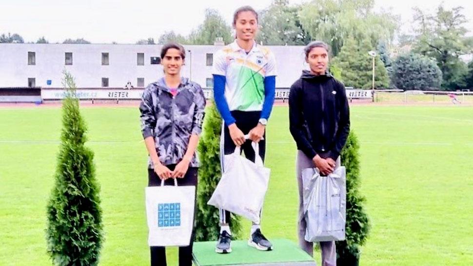 हिमा दास और मोहम्मद अनस ने एथलेटिकी मिटिनेक रीटर में जीते गोल्ड