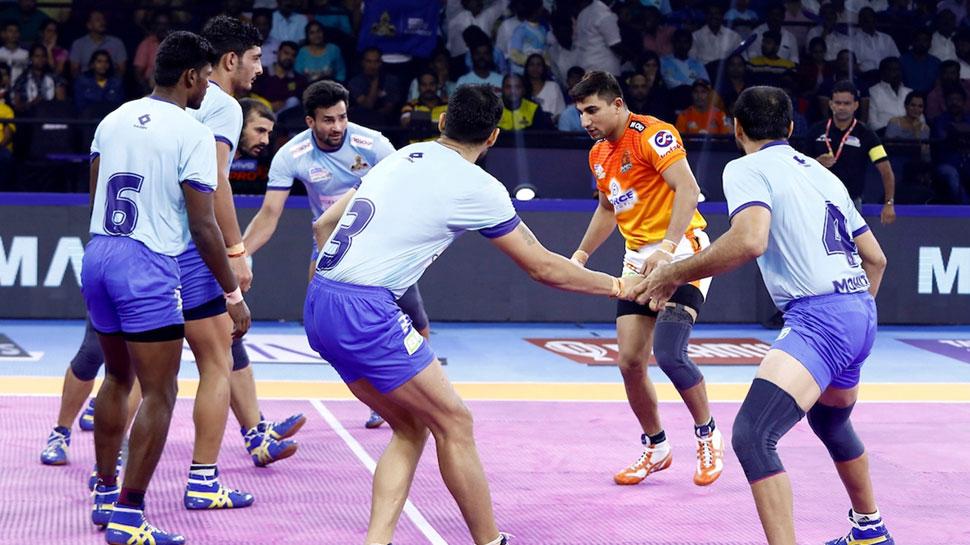 PKL 2019: तमिल थलाइवज और पुनेरी पल्टन के बीच रोमांचक मैच टाई से हुआ खत्म