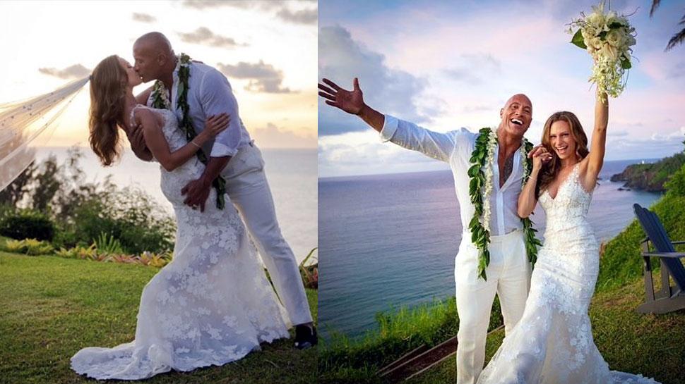 First Photo: The Rock ने 10 साल पुरानी गर्लफ्रेंड से हवाई में की गुपचुप शादी