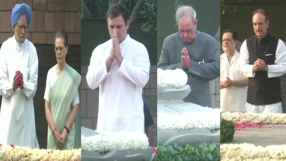 राजीव गांधी की 75वीं जयंतीः कांग्रेस नेताओं ने 'वीर भूमि' पहुंचकर दी श्रद्धांजलि, PM मोदी ने भी किया याद