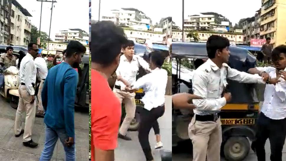 मुंबईः ट्रैफिक पुलिस ने काटा चालान, तो शख्स ने की धक्का-मुक्की, फिर जो हुआ...