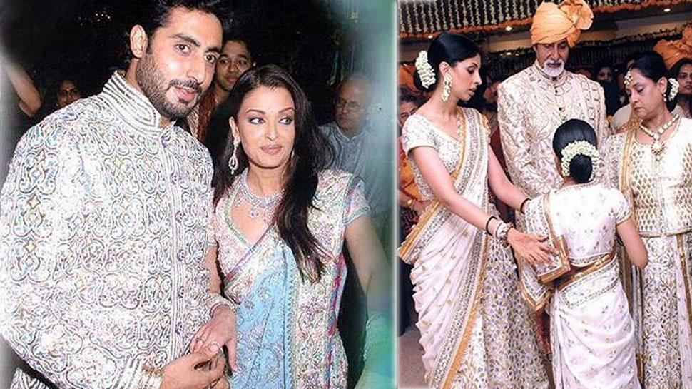 ऐश्वर्या-अभिषेक बच्चन की शादी की Unseen Photos सोशल मीडिया पर हुईं Viral