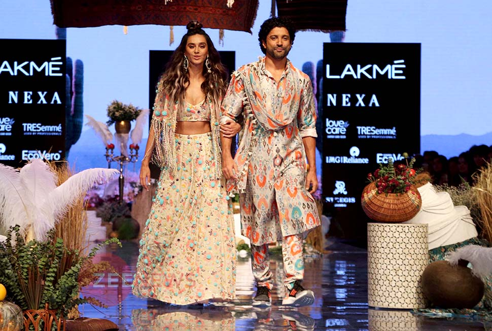 Lakme Fashion Week 2019: Farhan Akhtar and Shibani Dandekar Ramp walk with Love