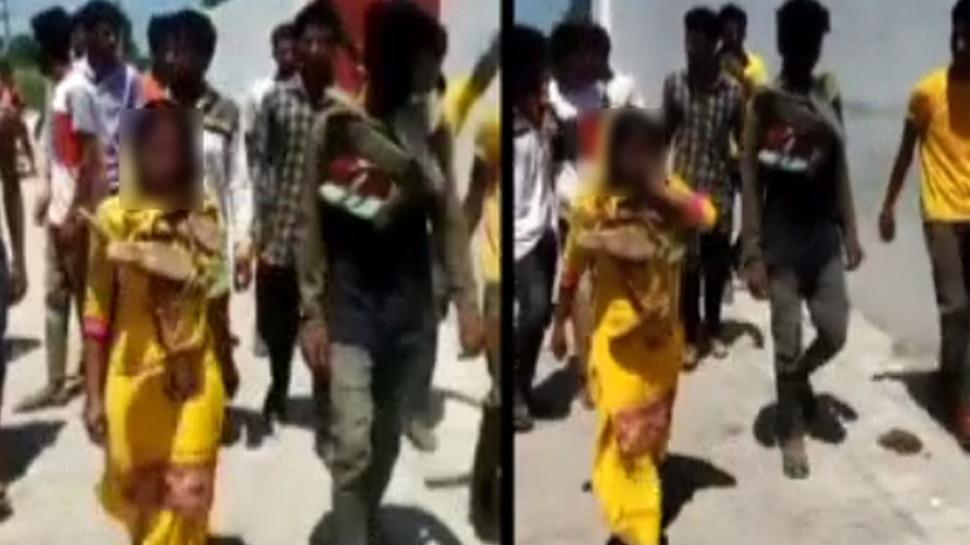 हरियाणा में पंचायत का तुगलकी फरमान, लड़का-लड़की का मुंह काला कर गांव में घुमाया