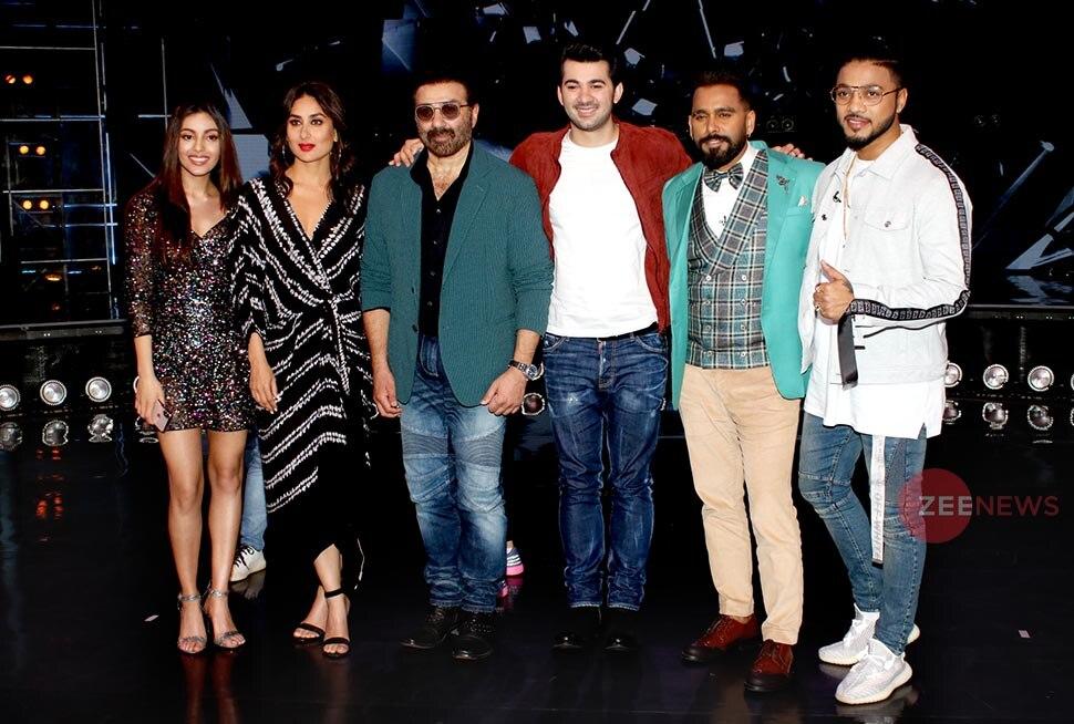 Kareena Kapoor, sunny deol and karan deol at Dance India Dance 7 set