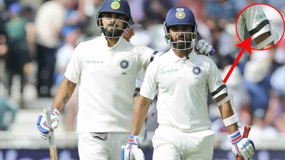 INDvsWI, 1st Test: काली पट्टी बांधकर टेस्ट मैच खेलेगी भारतीय क्रिकेट टीम, जानिए पूरी वजह
