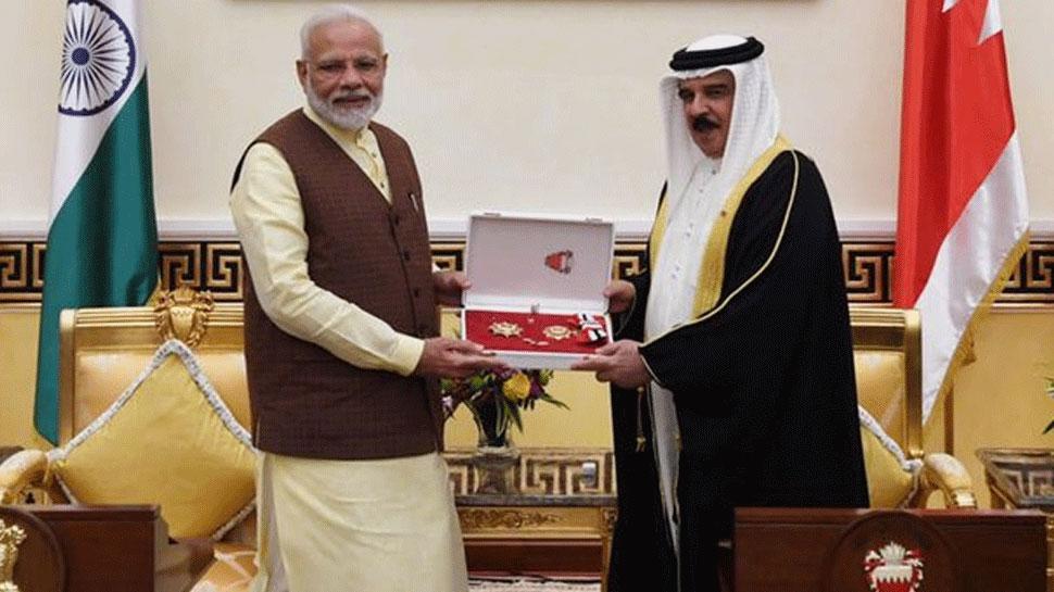बहरीन में PM मोदी को 'द किंग हमाद ऑर्डर ऑफ़ द रेनेसां' से किया गया सम्मानित