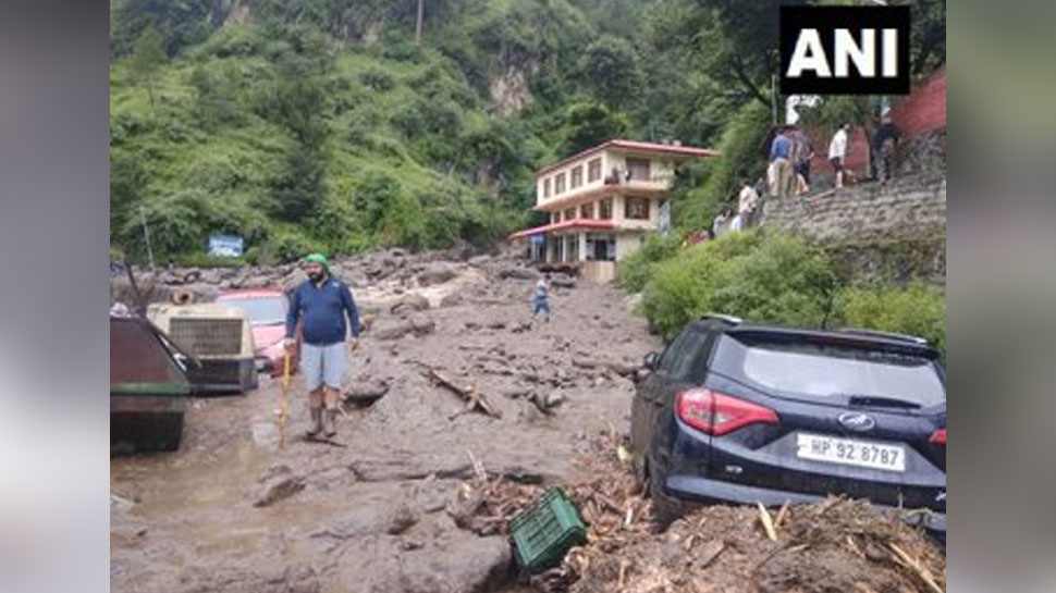 Vehicles washed away with water