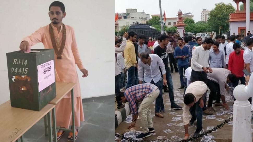 राजस्थान छात्रसंघ चुनाव में पांच लाख से अधिक छात्रों ने किया मतदान