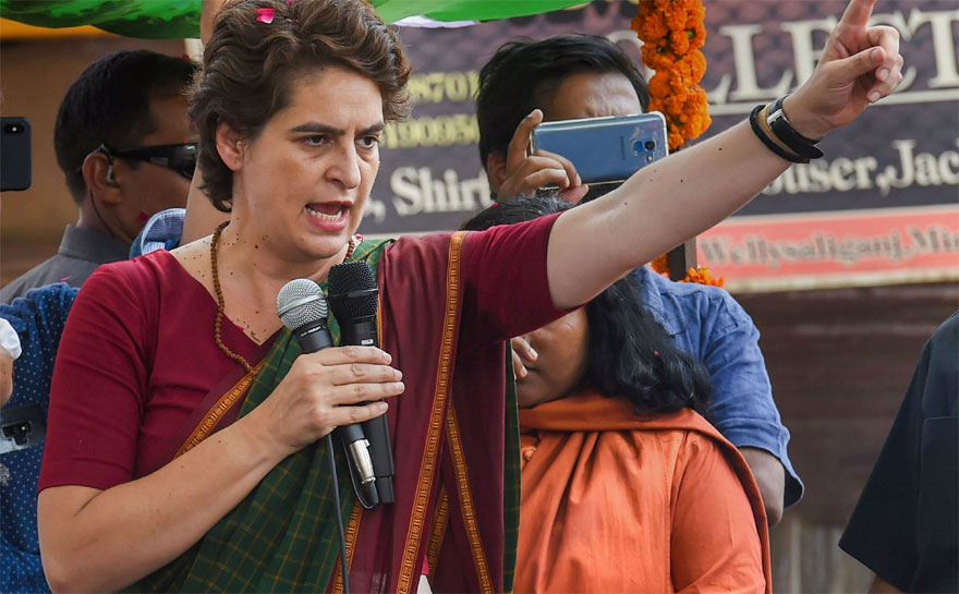 सरकार अभी निगमीकरण कर रही, फिर निजीकरण करेगी: प्रियंका गांधी वाड्रा