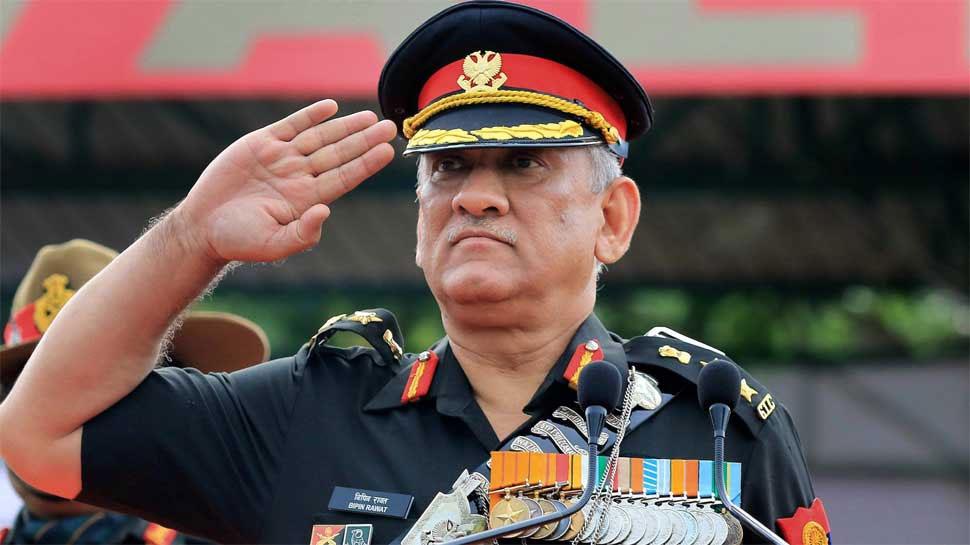 आज जम्मू कश्मीर जाएंगे सेना प्रमुख बिपिन रावत, धारा 370 हटने के बाद है यह पहला दौरा