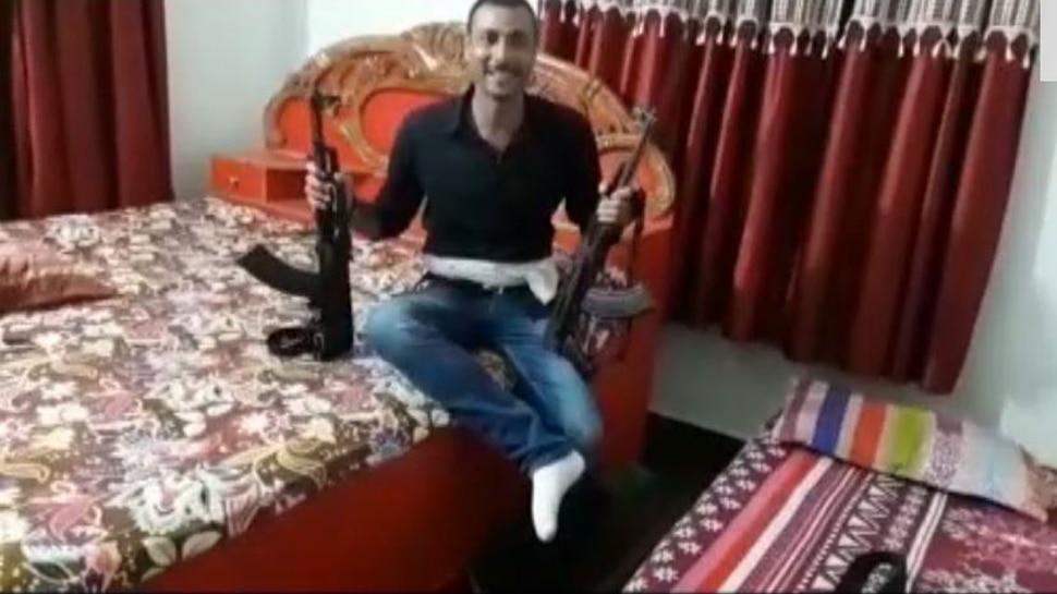 अनंत सिंह के कट्टर दुश्मन के भतीजे का वीडियो वायरल, AK-47 लहरा रहा है युवक