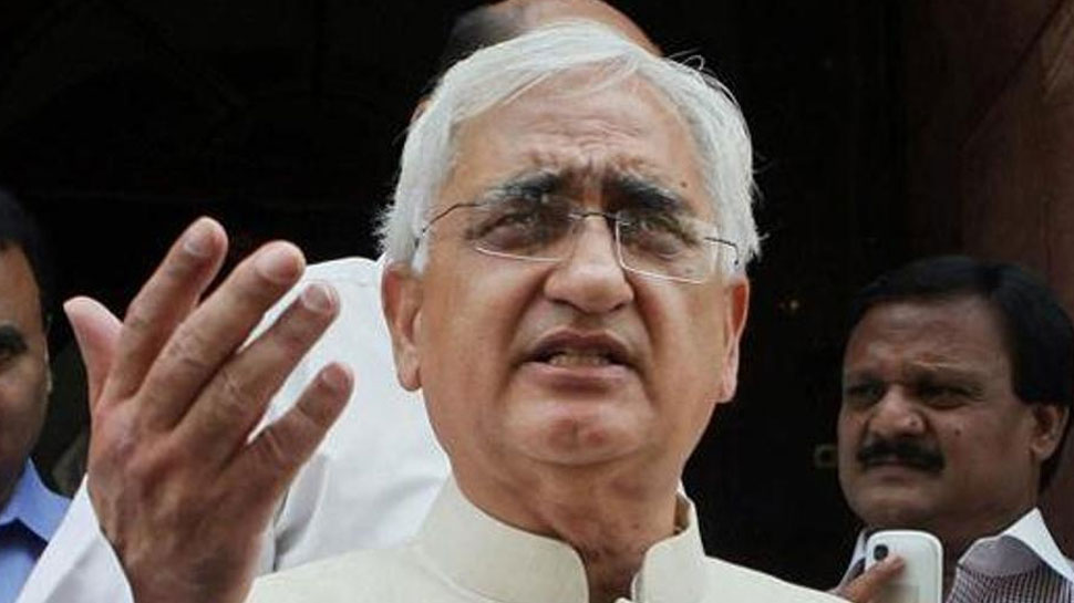 Image result for पूर्व विदेश मंत्री सलमान खुर्शीद