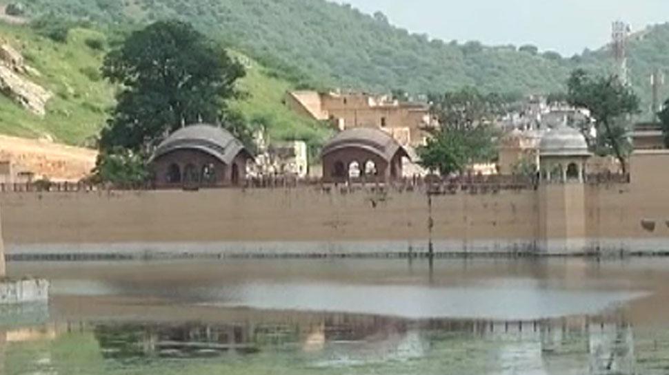 जयपुर: बारिश ने लौटाई मावठा सरोवर की रौनक, आमेर महल की शान पर लगे चार चांद