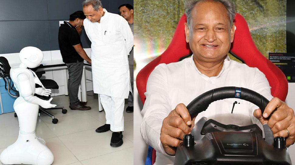 जयपुर: अशोक गहलोत ने भामाशाह टेक्नो हब का किया निरीक्षण, ड्राइव का भी लिया आनंद