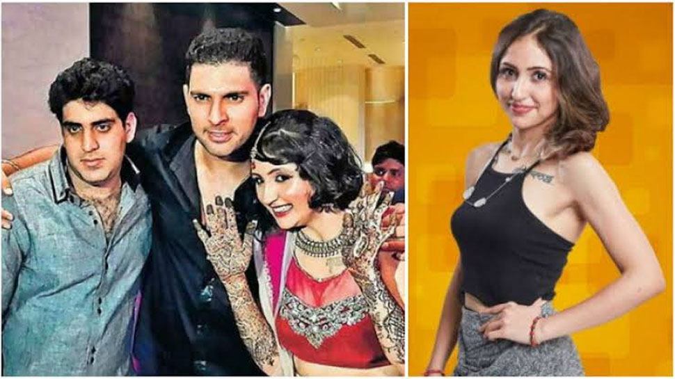 Yuvraj Singh's brother and his wife