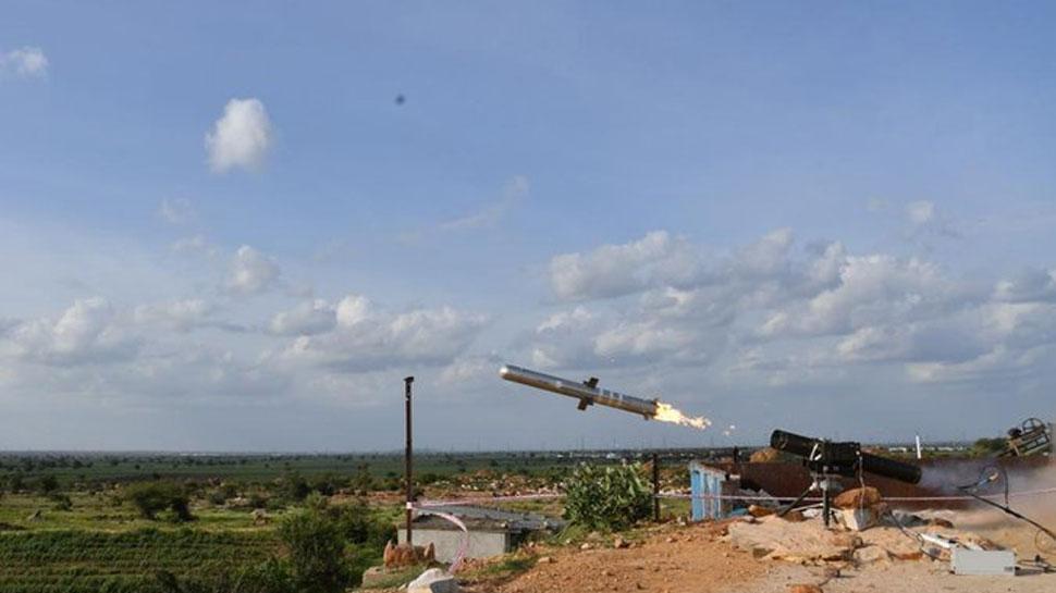 VIDEO: पोर्टेबल एंटी टैंक गाइडेड मिसाइल का सफल परीक्षण, देखें टारगेट को कैसे किया तबाह