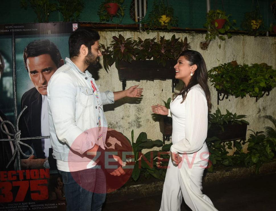Richa Chadda Welcomes Boyfriend Ali Fazal And Vicky Kaushal at special screening
