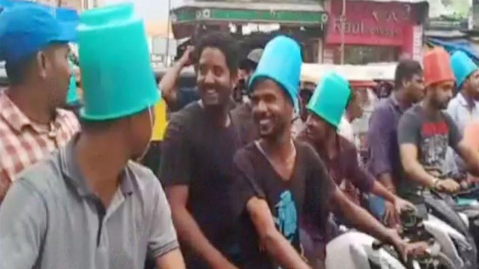 बिहार: कटिहार में बाल्टी पहन चलाई बाइक, पटना में पुलिस-पब्लिक हुई आमने-सामने
