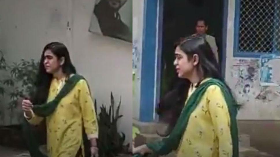 VIDEO: राबड़ी आवास से रोते हुए बाहर निकलीं तेजप्रताप की पत्नी ऐश्वर्या राय