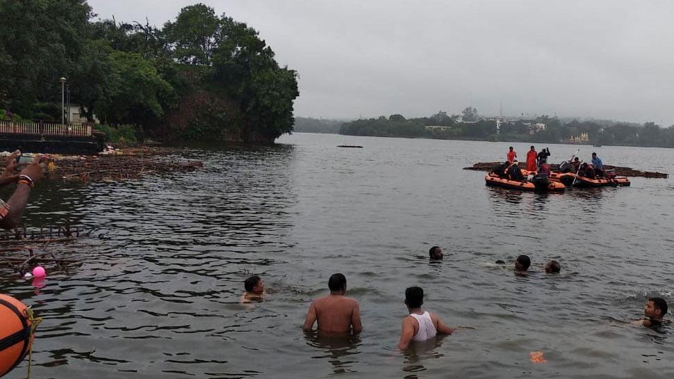 भोपालः खटलापुरा घाट में फिर पलटी नाव, जाते-जाते बची तीन मछुआरों की जान