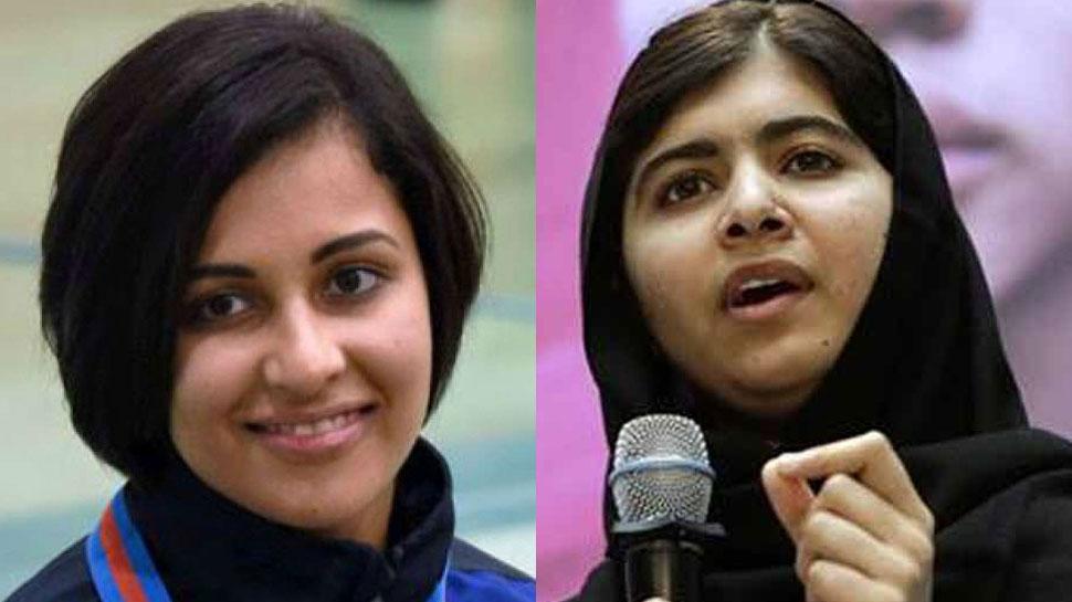 कश्मीर: मलाला के बयान पर भारतीय शूटर का पलटवार, पहले खुद पाकिस्तान लौटकर दिखाओ