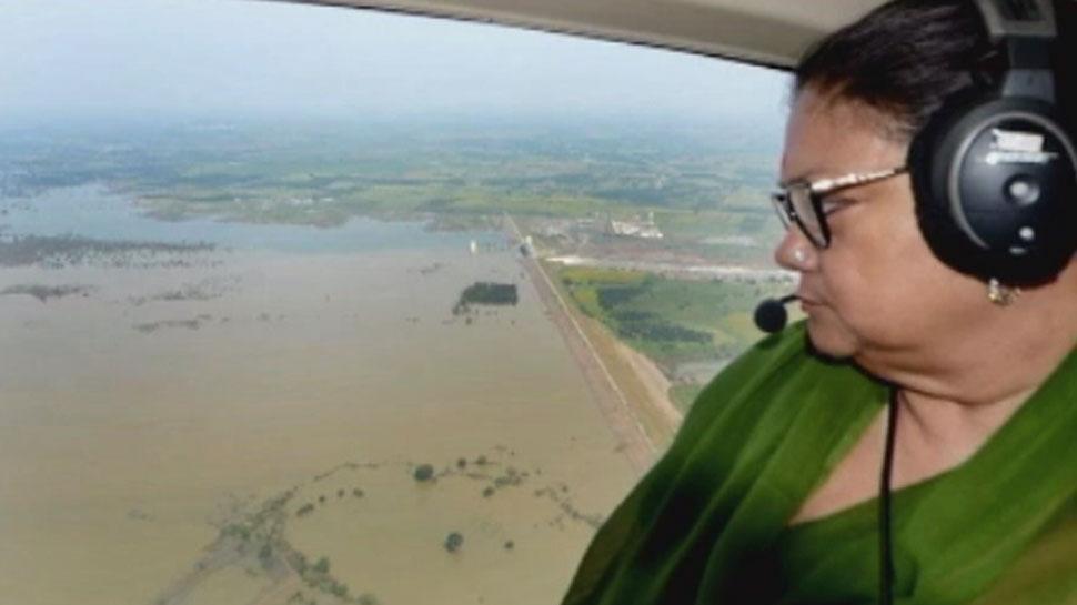 झालावाड़ के बाढ़ प्रभावित इलाकों का हालत गंभीर, वसुंधरा राजे ने किया हवाई दौरा