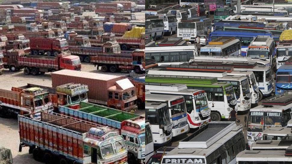 34 ट्रांसपोर्ट संगठनों की हड़ताल, सरकार से कोई ठोस रोडमैप नहीं मिलने से बना गतिरोध