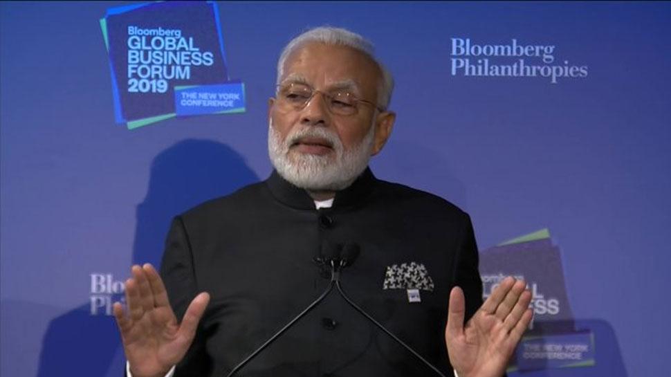 ब्लूमबर्ग ग्लोबल बिजनेस फोरम के मंच से PM मोदी की अपील, 'स्टार्टअप के लिए भारत आइए'