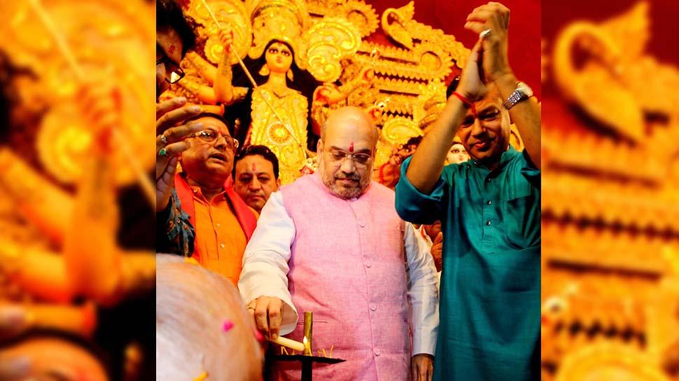 गृह मंत्री अमित शाह पश्चिम बंगाल में पहली बार करेंगे किसी दुर्गा पूजा पंडाल का उद्घाटन