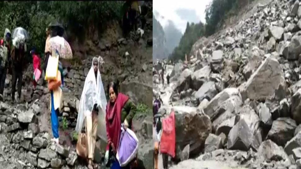 चमोली के लामबगड़ में 'पत्थरों की बरसात', बदरीनाथ हाईवे फिर बंद, हजारों यात्री फंसे