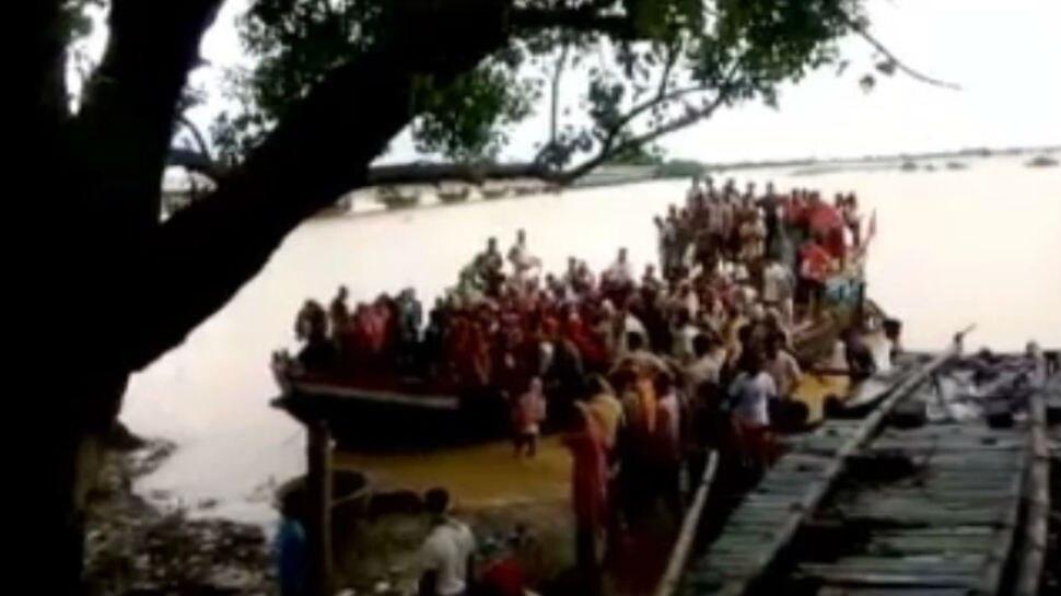 बिहार: लखीसराय में गंगा में फंसे 300 लोगों को किया गया रेस्क्यू, नाव हो गई थी खराब