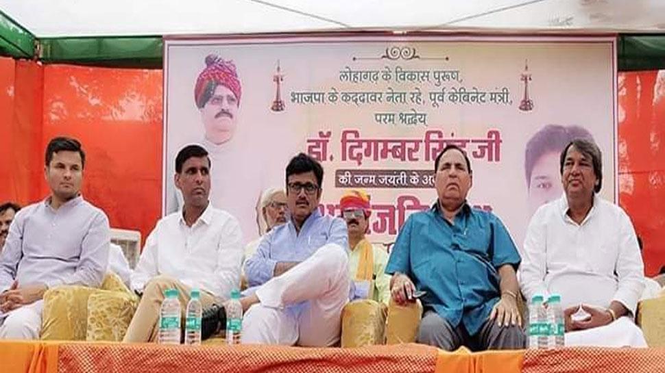 भरतपुर में दिगंबर सिंह ने आम जनमानस पर छोड़ी अमिट छाप: बीजेपी नेता राजेंद्र राठौड़