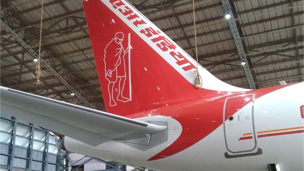 Air India ने अलग अंदाज में बापू को किया याद, पोट्रेट पेंट कर दी श्रद्धांजलि