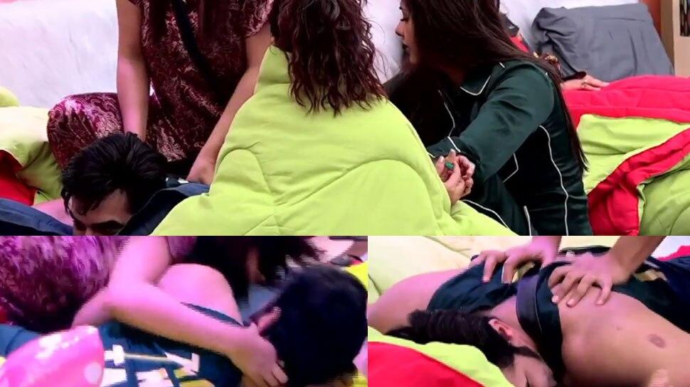 Bigg Boss 13: शेहनाज गिल से पारस छाबड़ा ने कराई स्पेशल मसाज, Watch Video