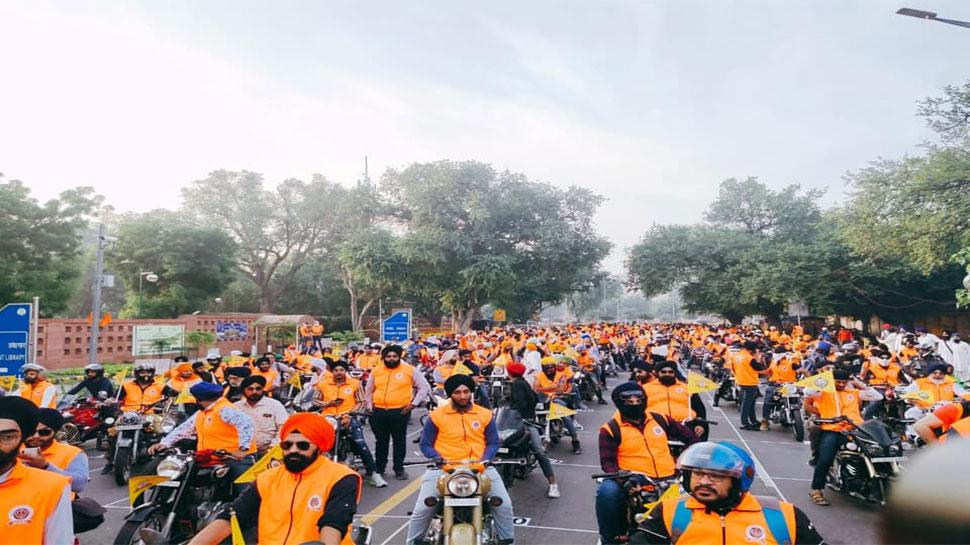 गुरु नानक देव की 550वीं जयंती के अवसर पर दिल्ली से करनाल तक बाइक रैली का आयोजन