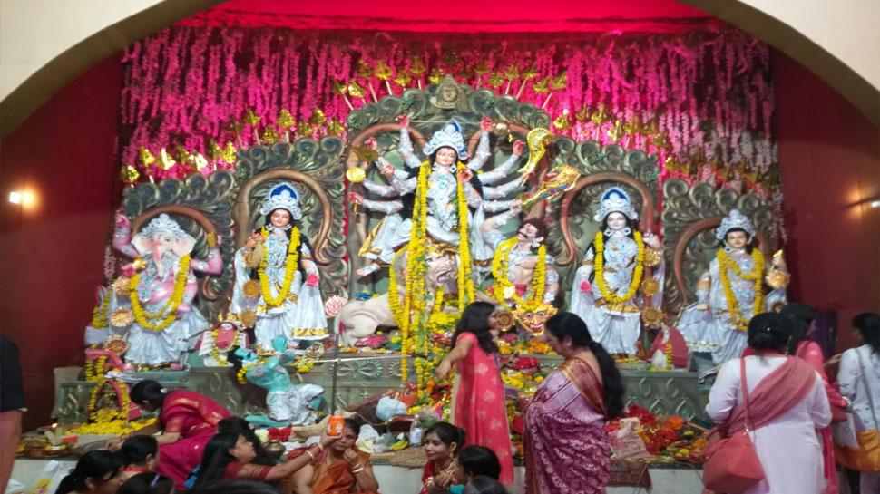 जयपुर में नवरात्र के पंडालों की है धूम, देश की संस्कृतियों को देखने का मिल रहा है मौका