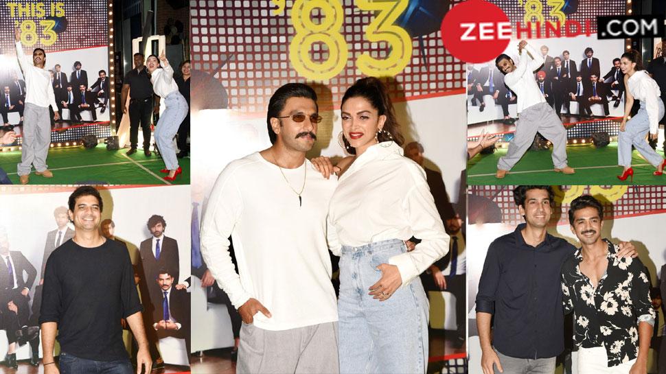 Ranveer Singh and Deepika Padukone 83 wrap