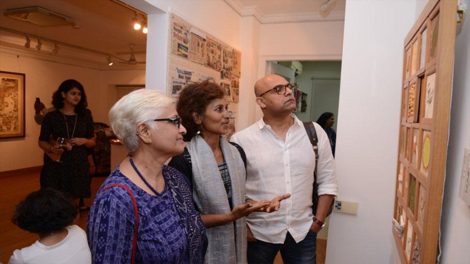 दक्षिण भारत के कलाकारों ने दिल्ली में लगाई पेंटिंग प्रदर्शनी, दिखाए जीवन के कई पहलू