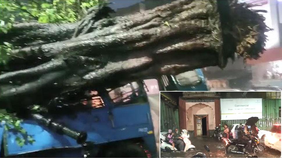 पुणे में आंधी-बारिश से जन-जीवन व्यस्त, कार पर पेड़ गिरने से एक शख्स की मौत