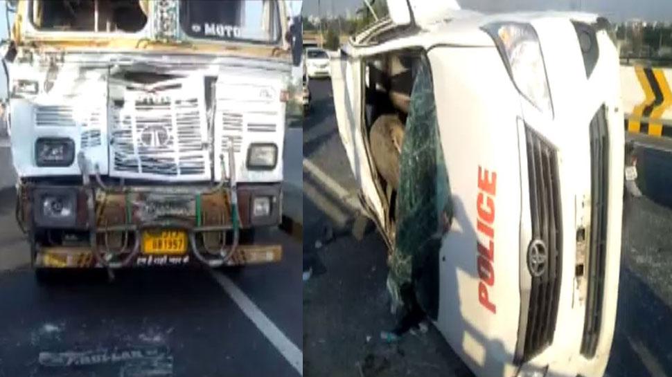 बिक्रम सिंह मजीठिया के काफिले की पायलट कार की ट्रक से भिड़ंत, 1 जवान की मौत, 4 घायल