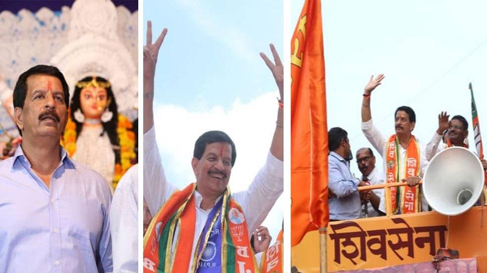 महाराष्ट्र चुनाव 2019: शिवसेना प्रत्याशी प्रदीप शर्मा ने अपने चुनाव क्षेत्र में लिया घर