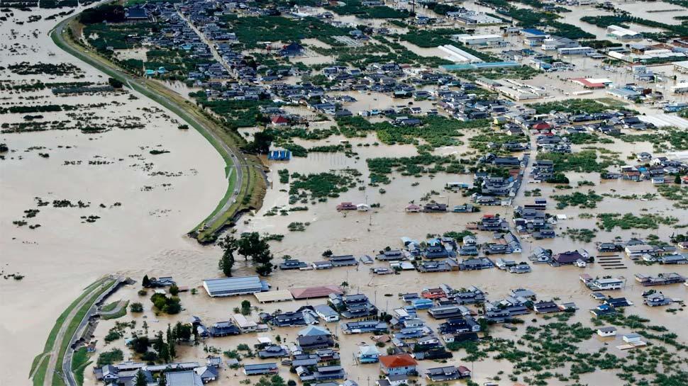 'हैजीबिस तूफान' का जापान में कहर, 50 नदियों ने तोड़ा बांध, मरने वालों की संख्या 66 हुई